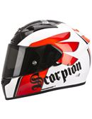 Casco scorpion exo-710 air solid - 0460703907#BLANCO-ROJO-NEGRO(4)