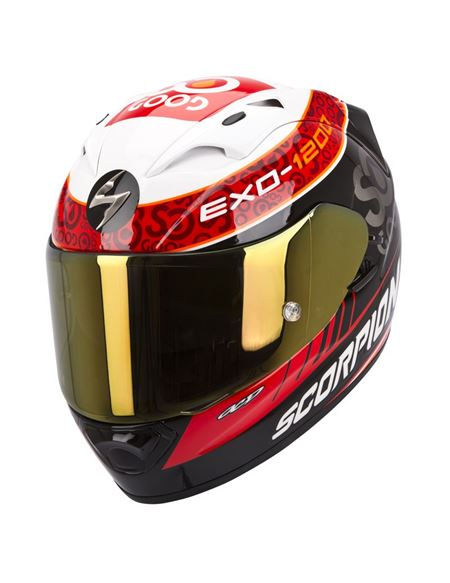 Casco scorpion exo-1200 air charpentier - 046036092#BLANCO-ROJO-NEGRO(1)