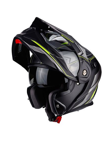 Casco scorpion adx-1 anima negro mate-fluor