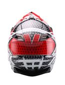 Casco cross unik cx-14 speed - 0460705295#NEGRO-ROJO (2)
