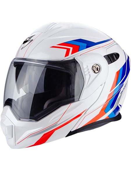 Casco scorpion adx-1 anima blanco-rojo-azul - 0460705367#BLANCO(1)