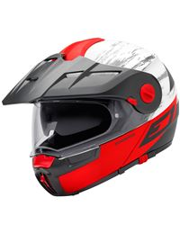 Casco schuberth e1 cross fire rojo