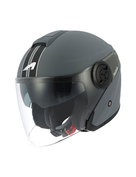 Casco astone dj10 graphics lines gris mate-negro - 0460706121(1)#ANTRACITA