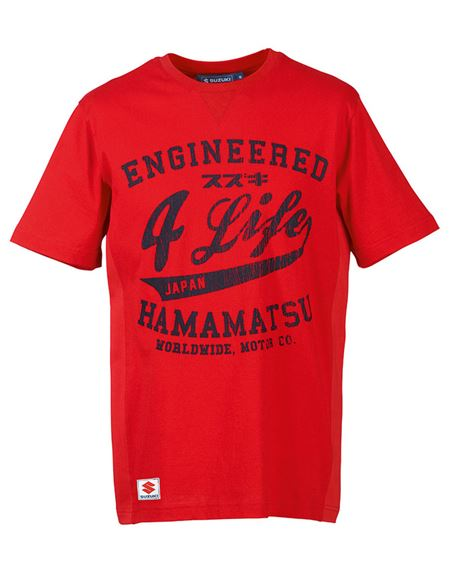 Camiseta suzuki engineered 4 life rojo - 0460707046