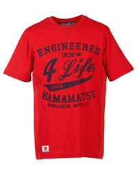 Camiseta suzuki engineered 4 life rojo