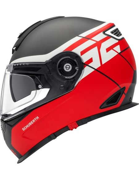 Casco schuberth s2 sport rush rojo mate