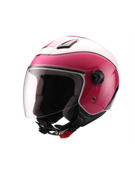 Casco unik cj-16 fashion rosa-blanco - 0460707577#ROSA-BLANCO(1)
