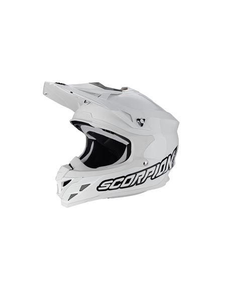 Casco cross scorpion vx-15 blanco