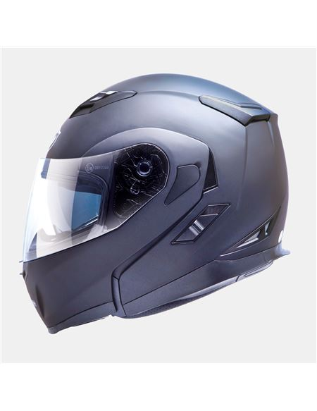 Casco mt flux solid titanio mate - 0460708084#TITANIO-MATE