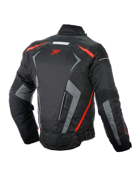 Chaqueta seventy sd-jr55 racing negra-roja - SD-JR55-RED