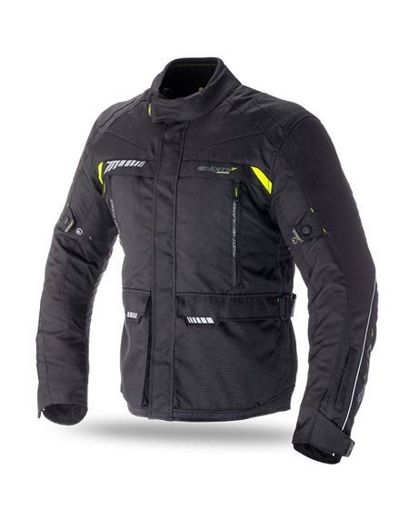 Chaqueta seventy sd-jt41 touring negra-fluor - SD-JT41-BLACK-YELLOW