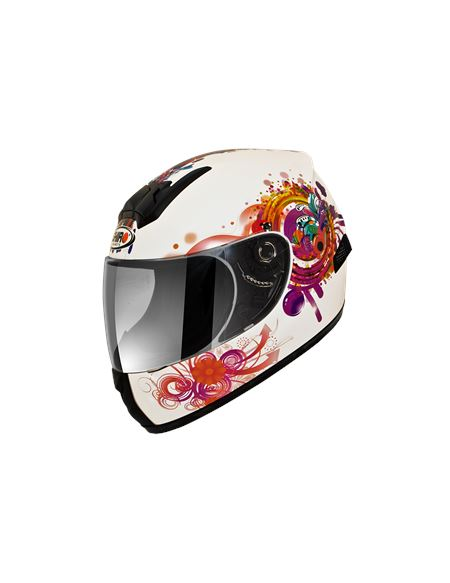 Casco shiro sh-829 princess kids integral infantil - SH-829-PRINCESS-KIDS-BLANCO-A-CASCO-SHIRO-HELMETS