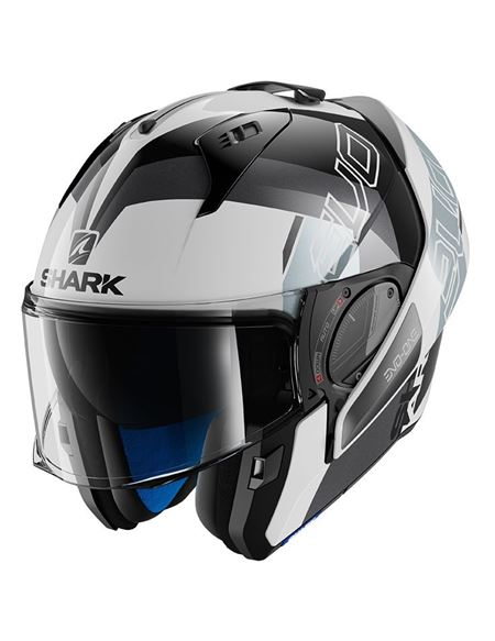 Casco shark evo-one 2 slasher blanco-negro-plata - 0460709767#BLANCO-NEGRO-PLATA(1)