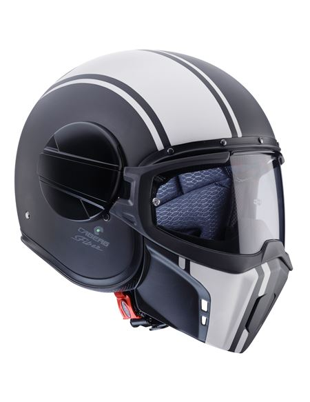 Casco caberg ghost legend negro mate-blanco - 0460709771#(1)