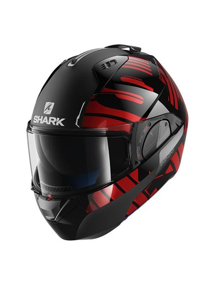 Casco shark evo-one 2 lithion dual negro-rojo - 0460709982#NEGRO-ROJO(1)
