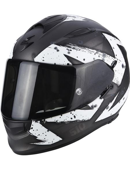 Casco scorpion exo-510 air marcus plata mate-blano - 0460710299