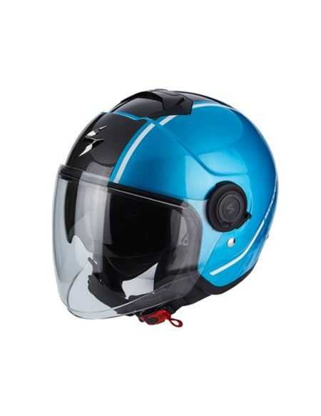 Casco scorpion exo-city avenue sky azul-negro - CASCO-SCORPION-EXO-CITY-AVENUE-BLUE-BLACK