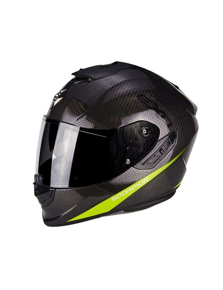 Casco exo-1400 air carbon pure amarillo - SCORPION EXO-1400 AIR CARBON PURE AMARILLO (1)