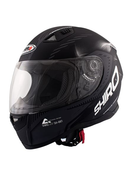 Casco shiro sh-881 motegui negro mate - carbono - T18-000973-0069-1-800
