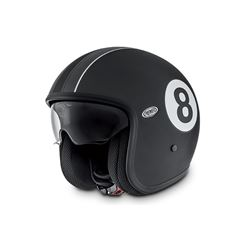 Casco premier vintage eight negro mate