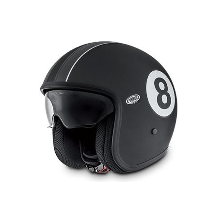 Casco premier vintage eight negro mate - CASCO-PREMIER-VINTAGE-EIGHT