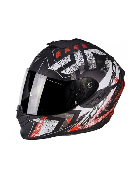 Casco exo-1400 air picta negro mate-rojo neon - 0460710388