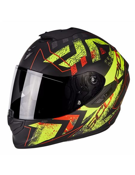 Casco exo-1400 air picta negro mate-amarillo - 0460710287
