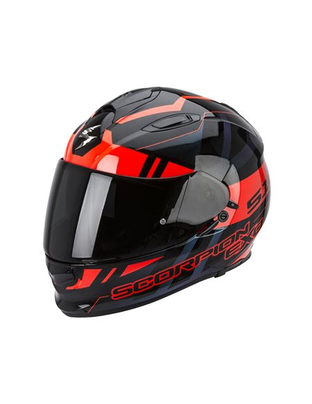 Casco scorpion exo-510 stage negro-rojo - SCORPION-EXO-510-AIR-STAGE-ROJO