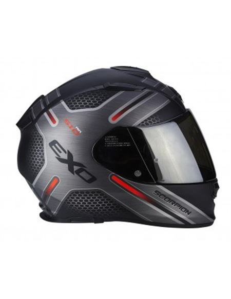 Casco scorpion exo-510 air route negro mate-rojo - CASCO-SCORPION-EXO-510-AIR-ROUTE-BLACK-RED