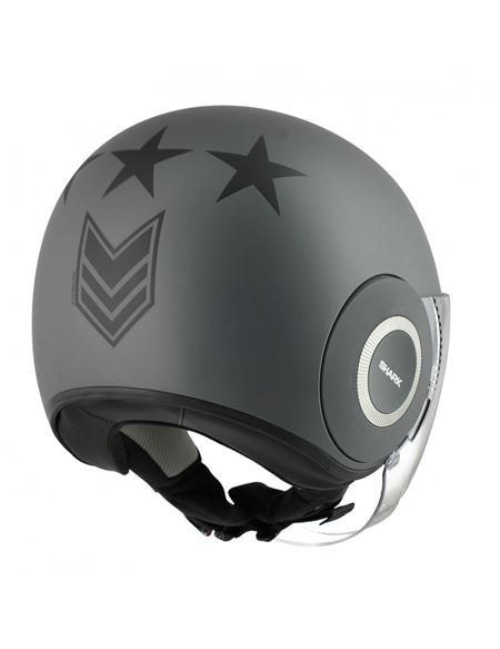Casco jet shark nano united gris mate - 046700058#GRIS (1)