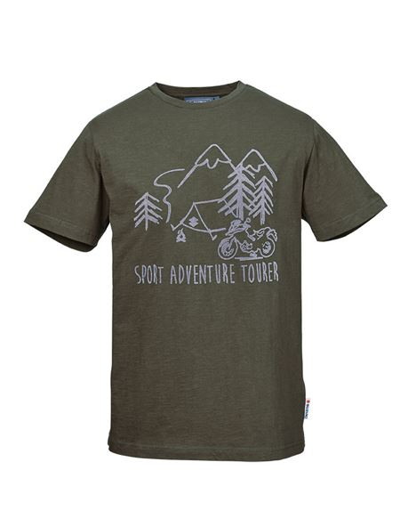 Camiseta suzuki adventure tourer verde - 0460706629