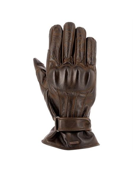 Guantes piel overlap croms marron - OVG-CROMS-IT-BR