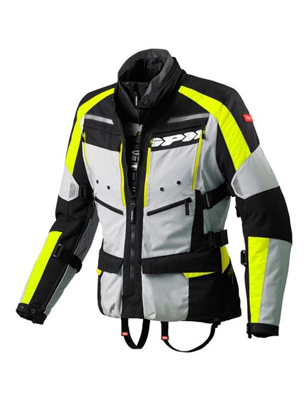Chaqueta spidi 4season h2out gris-fluor