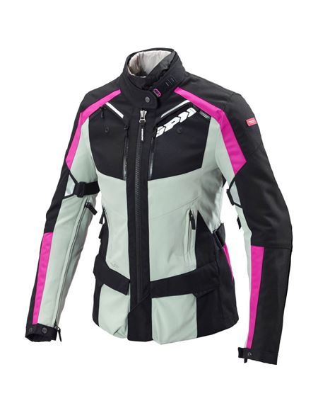 Chaqueta spidi 4season lady h2out gris-rosa - 0460713237