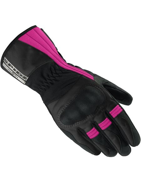 Guantes spidi voyager lady h2out negro/fucsia - 0460712952