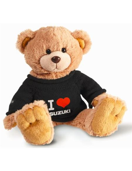 Peluche suzuki teddy team black