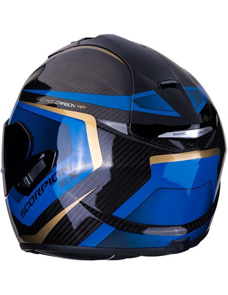 16851b69f7c78 ... Casco scorpion exo-1400 air carbon esprit negro-az - 0460713598 CARBONO-