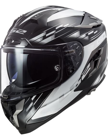 Casco ls2 ff327 challenger gp negro blanco - FF327 GP BLACK WHITE