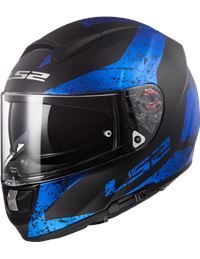 Casco ls2 ff397 vector hpfc sign negro mate azul
