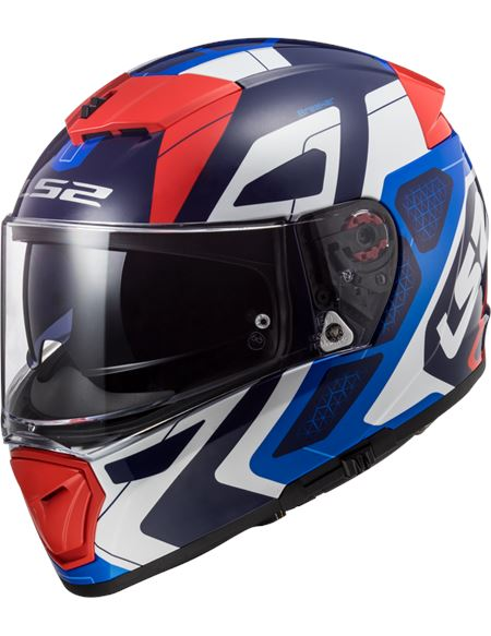 Casco ls2 ff390 breaker android azul/rojo - FF390 ANDROID