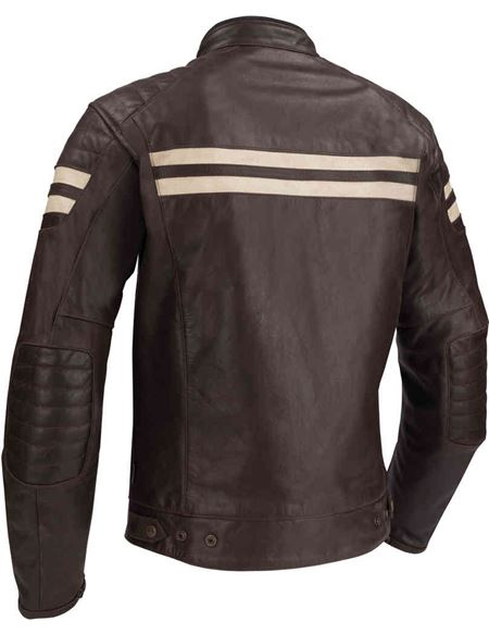 Chaqueta segura stripe marron - STRIPE_S1