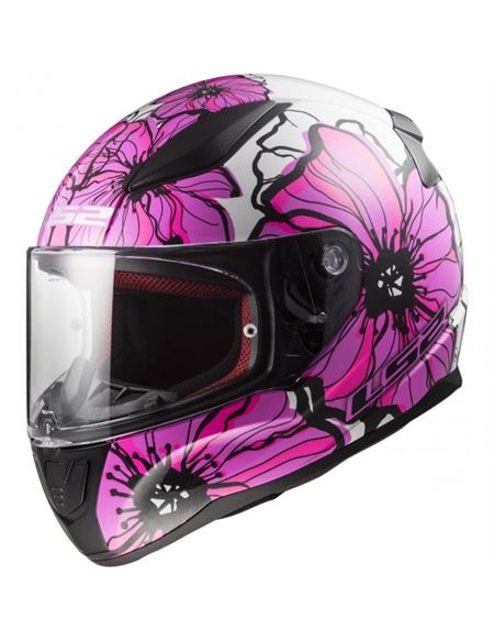 Casco ls2 ff353 rapid poppies rosa 2019 - 04607124594#ROSA(1)