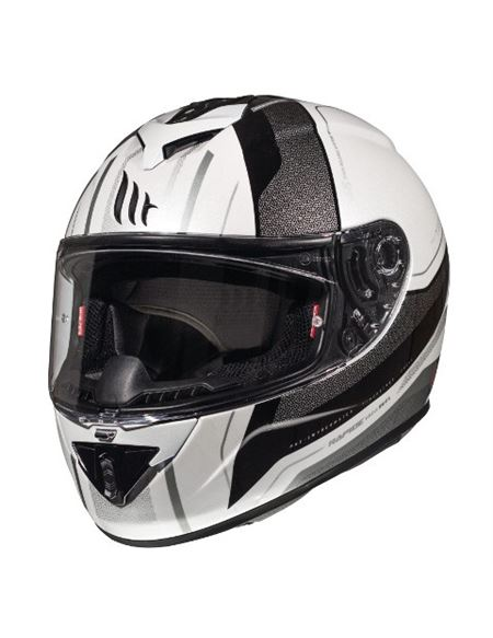 Casco mt rapide duel gris-brillo