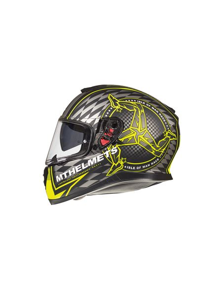 Casco mt thunder 3 isle of man amarillo mate