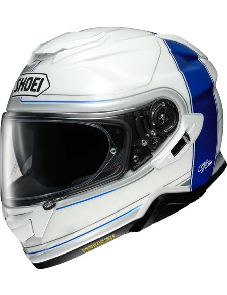 Casco shoei gt-air 2 crossbar blanco-azul tc2